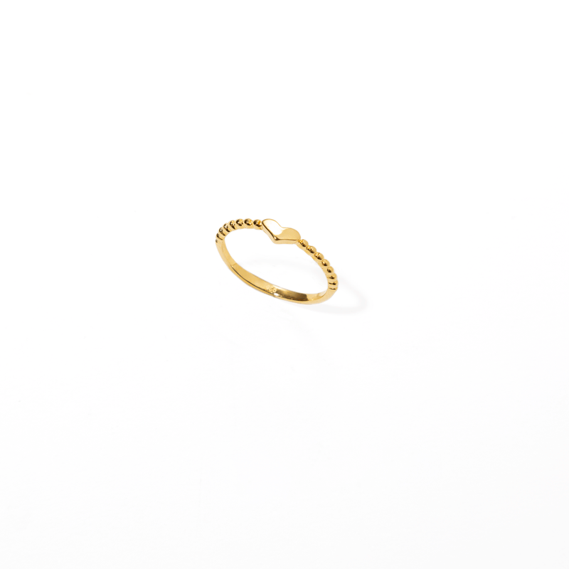FLAT HEART RING