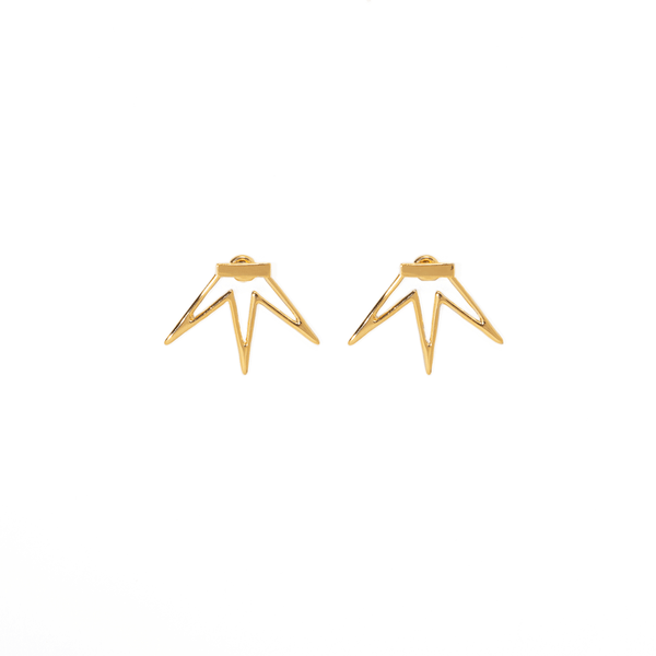 FLOWER SPIKE EARRINGS