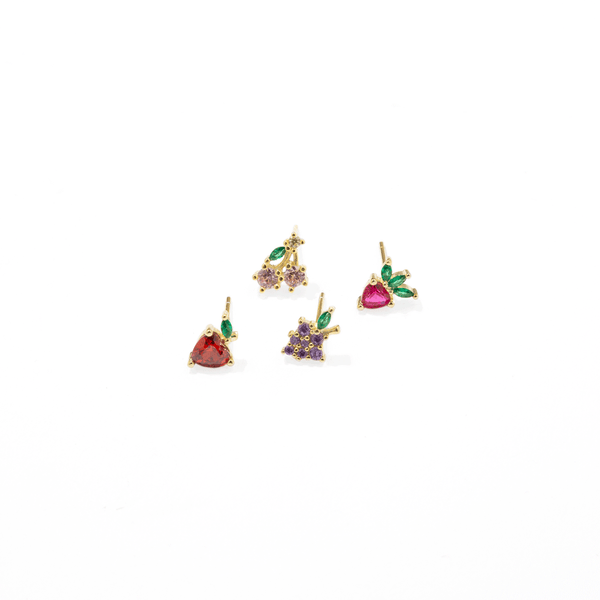 GRAPE CRYSTAL EARRING