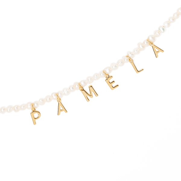 PEARL NAME NECKLACE