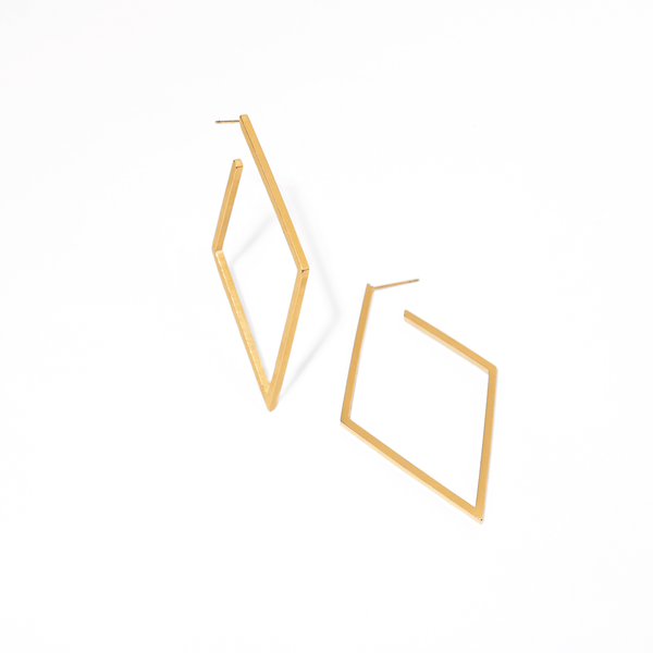 RHOMBUS GOLDEN HOOPS