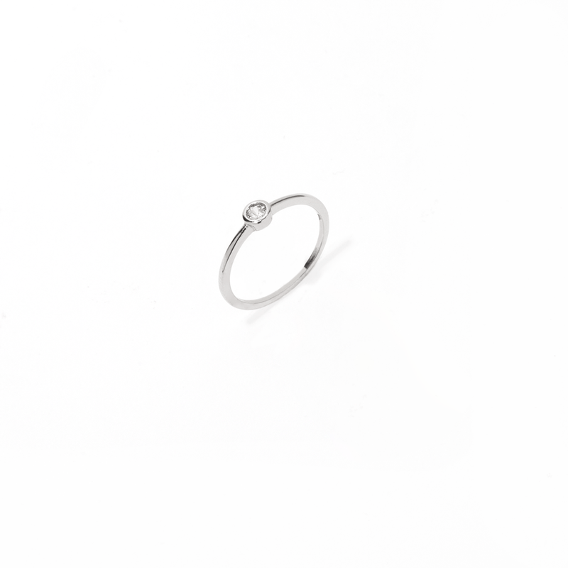 SINGLE ROUND SILVER RING
