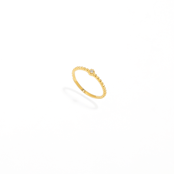 SOLITAIRE DOTS GOLDEN RING