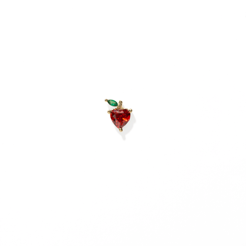 STRAWBERRY CRYSTAL EARRING