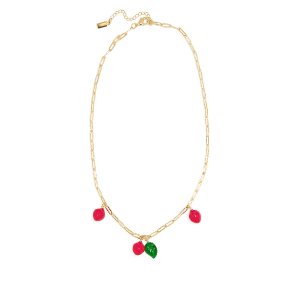 STRAWBERRY LINK NECKLACE