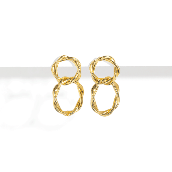 TWIST DOUBLE EARRINGS