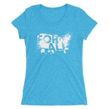 """America For All"" Ladies' short sleeve t-shirt"