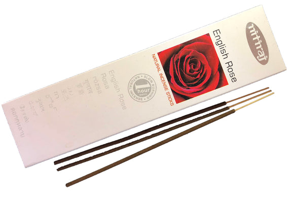 Nitiraj English Rose incense sticks from Mary's Naturals®