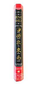 HEM Incense Sticks - 20 Sticks Hexagonal Box - FENG SHUI 5-IN-1