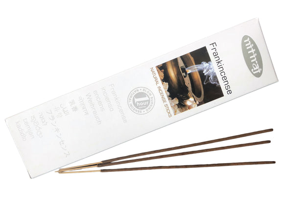 Nitiraj Premium FRANKINCENSE Natural Incense Sticks 25 grams - Mary's Naturals®