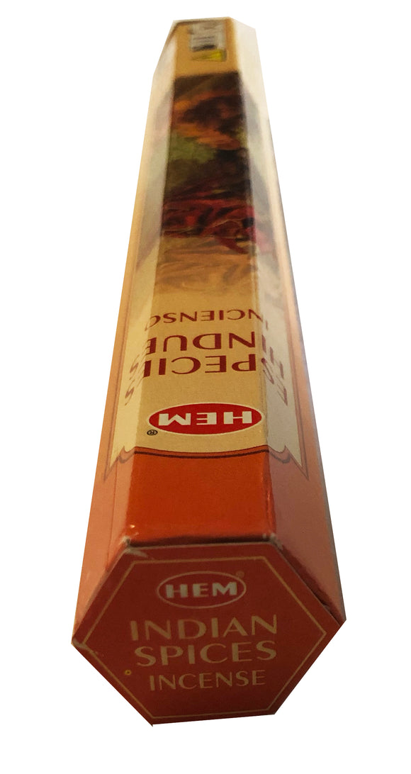 HEM Incense Sticks - 20 Sticks Hexagonal Box - INDIAN SPICES