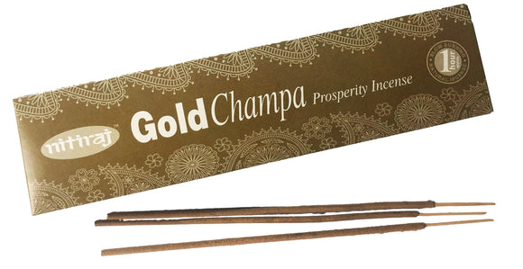 Nitiraj Gold Champa Prosperity Incense Sticks