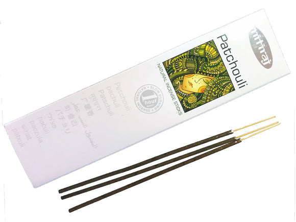 Nitiraj Premium PATCHOULI Natural Incense Sticks 25 grams - Mary's Naturals®