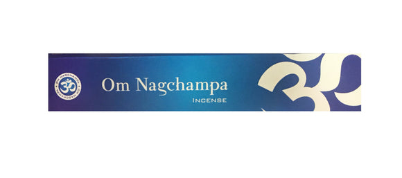 Om Nagchampa Incense 15 grams box approximately 10 sticks per box - Mary's Naturals
