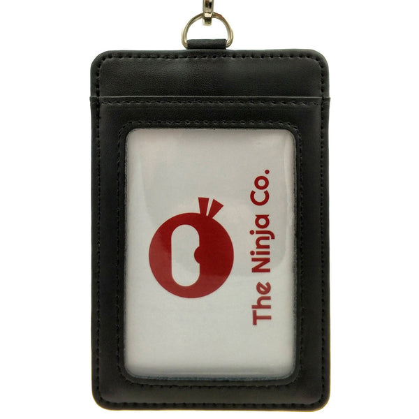 The Ninja Co. Genuine Leather ID Card Holder & Lanyard