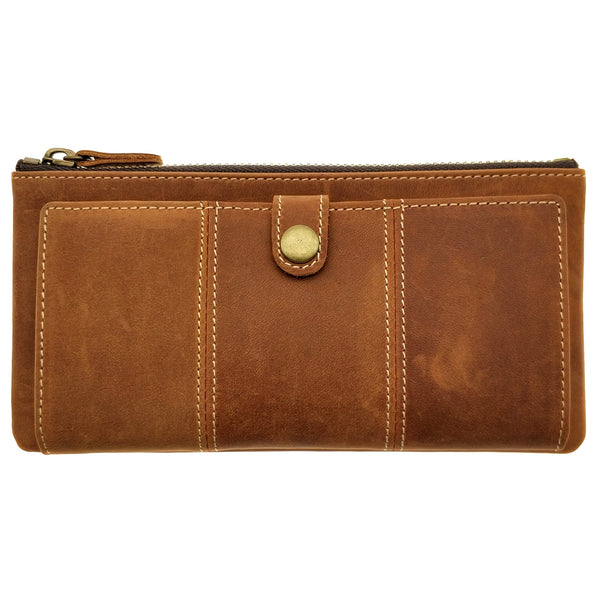 The Ninja Co. Top Grain Leather Long Wallet