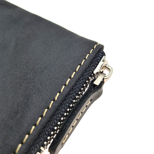 The Ninja Co. Compact Zipper Wallet - Vintage Leather