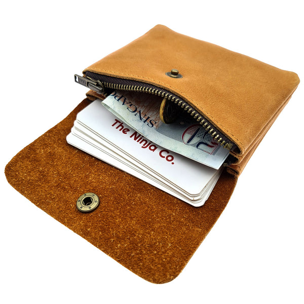 The Ninja Co. Compact Wallet - Natural Leather