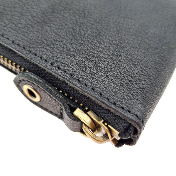 The Ninja Co. Compact Zipper Wallet - Natural Leather