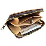 The Ninja Co. Billfold Zipper Card Wallet - Italian Natural Leather - NJ 8859