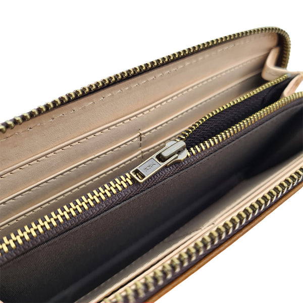 The Ninja Co. Long Zipper Wallet - Italian Natural Leather - NJ 8863