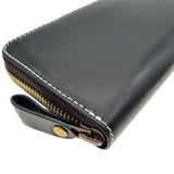 The Ninja Co. Long Zipper Wallet - Italian Natural Leather - NJ 8864