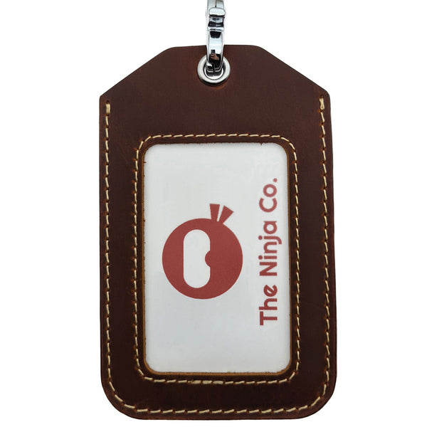 The Ninja Co. Card Holder & Lanyard - Vintage Leather