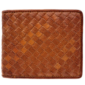The Ninja Co. Billfold Woven Wallet - Natural Leather - NJ 8868