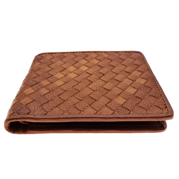 The Ninja Co. Woven Wallet - Natural Leather