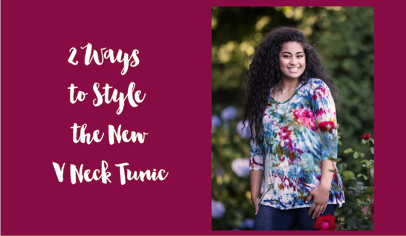 How to Wear and Style Our V Neck Tunic
