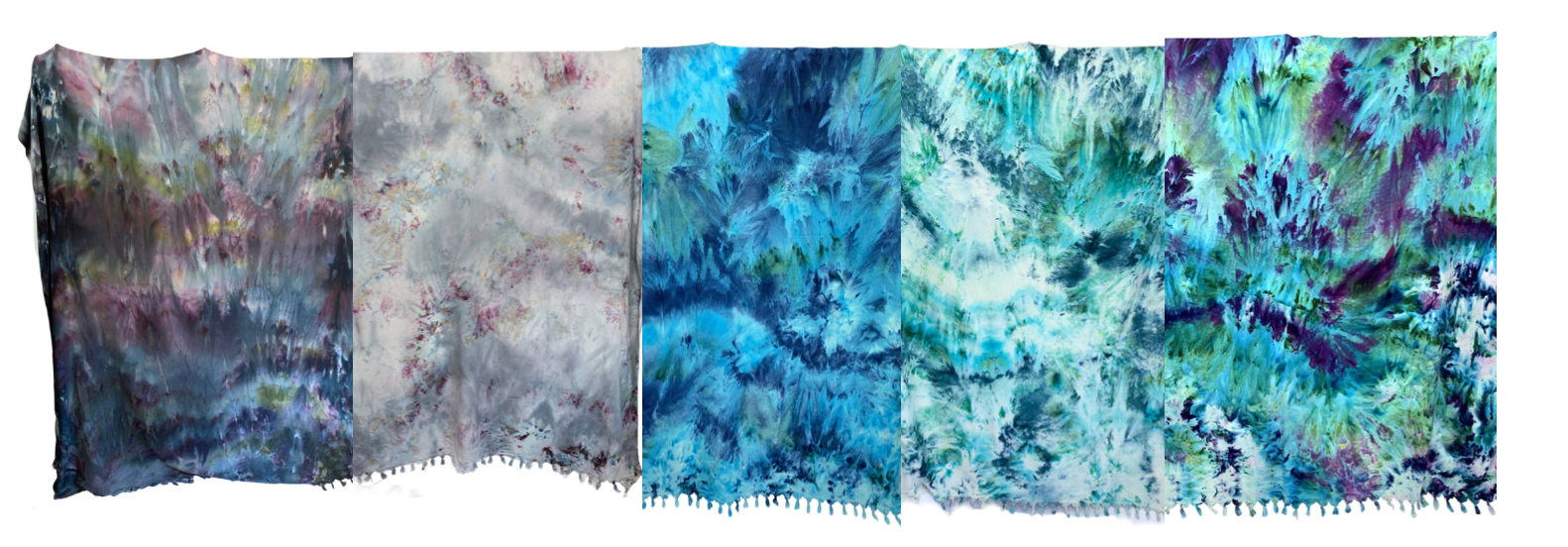 hand dyed cotton oversized blankets by dyetology