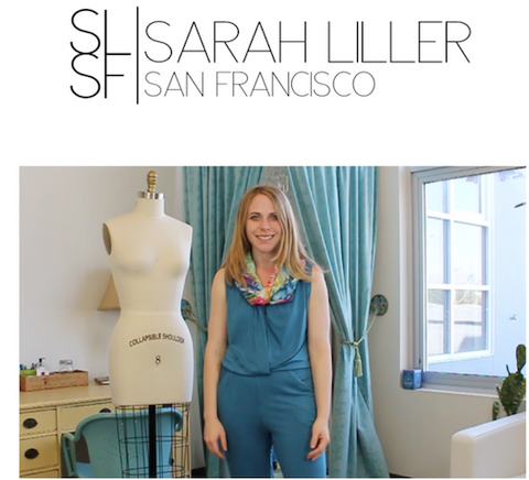How to Wear a Sarah Liller San Francisco jumpsuit with Dyetology Infinity Scarf