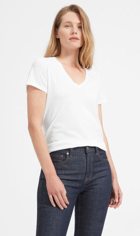 white tee by everlane
