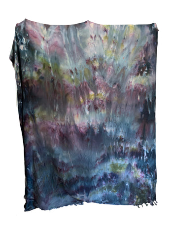 "Hand-Dyed Cotton Sateen Pillow Case Set in ""Monet's Garden"""