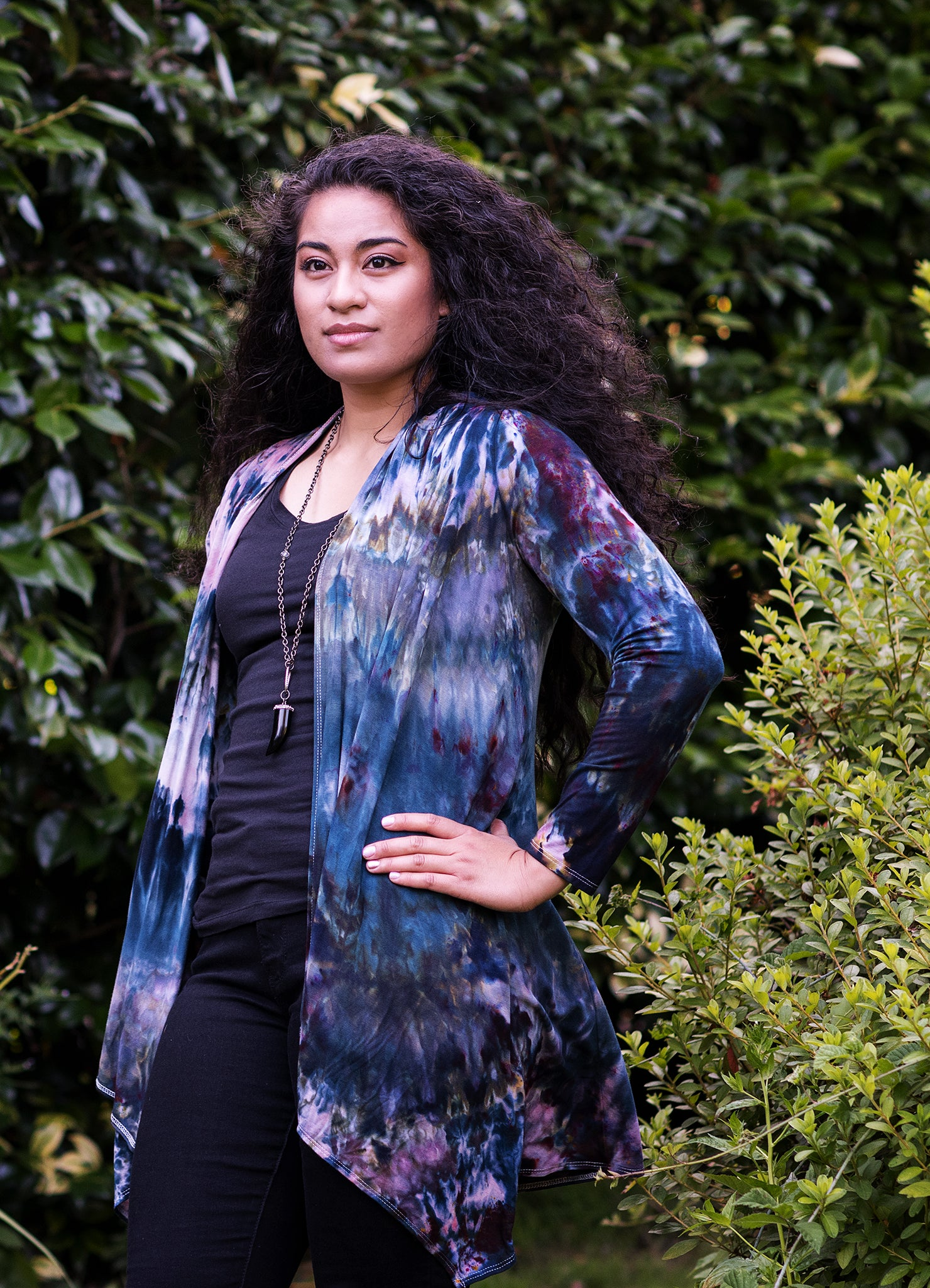 Drape Front Jacket in A Night Out - Top - Dyetology