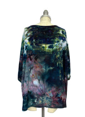 Hand Dyed Easy Rayon Shirt in A Night Out - Dyetology