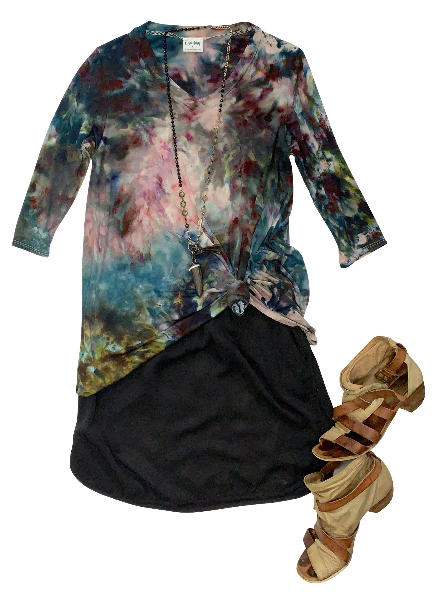 V Neck Tunic in A Night Out - Top - Dyetology