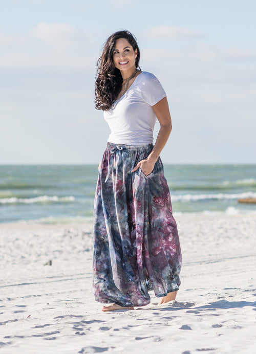 Maxi Skirt with Pockets in A Night Out -  - Dyetology
