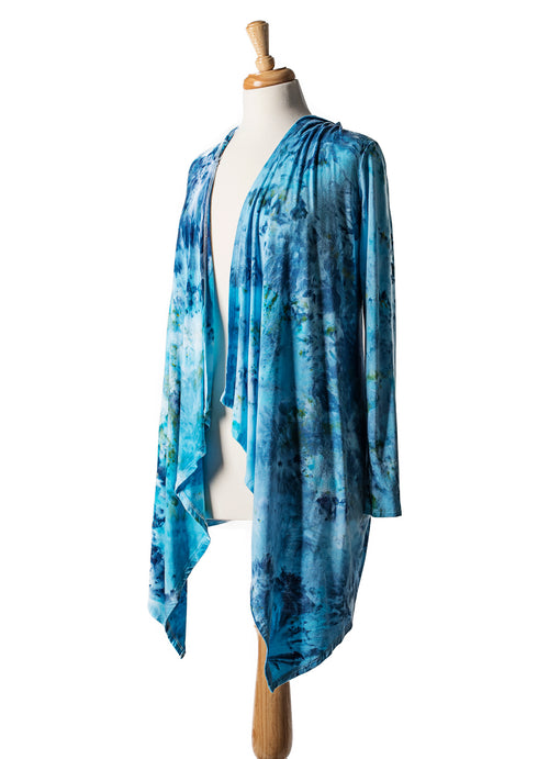 Aquarius Drape Front Hoodie - Top - Dyetology
