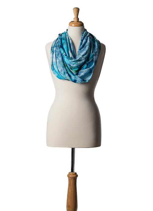 Aquarius Infinity Scarf - Infinity Scarves - Dyetology