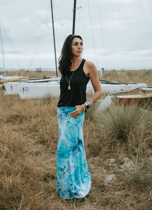 Aquarius Rayon Maxi Skirt - Maxi Skirt - Dyetology