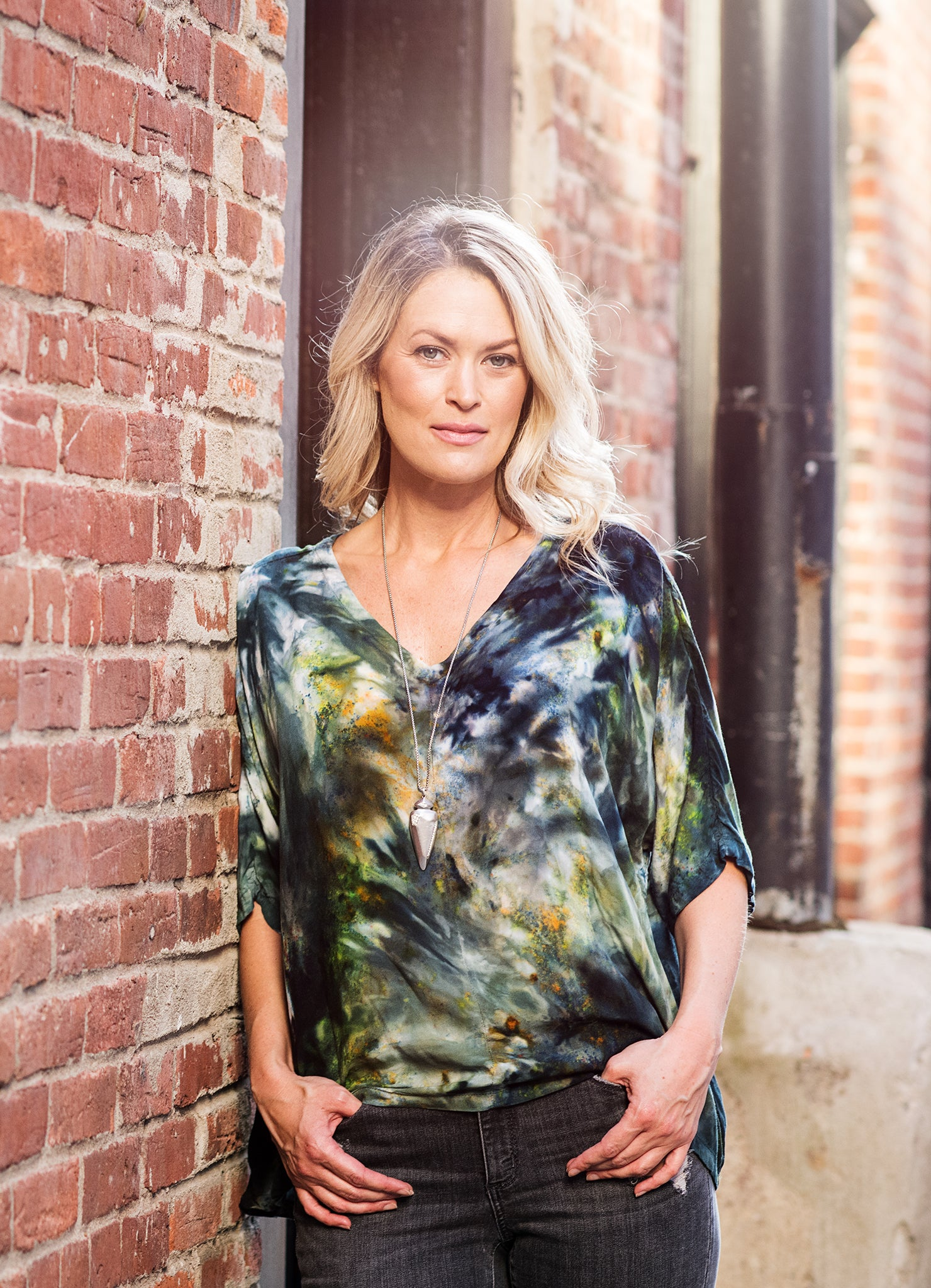 Easy Rayon Shirt in Woodland Camo - Top - Dyetology