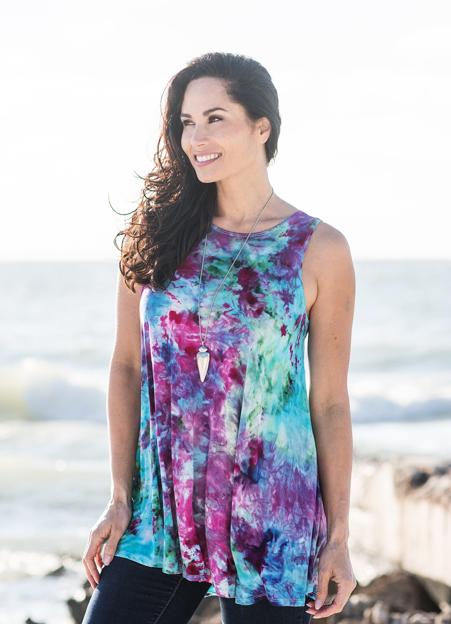 A-Line Tunic Tank in Confetti - Top - Dyetology
