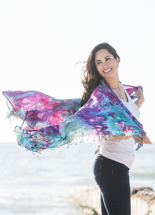Blanket-Sarong Scarf in Confetti - Blanket-Sarong Scarf - Dyetology