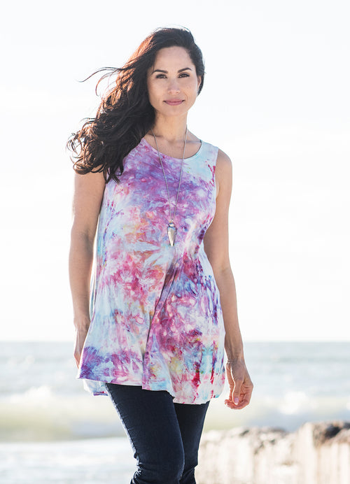 A-Line Tunic Tank in Cotton Candy - Top - Dyetology