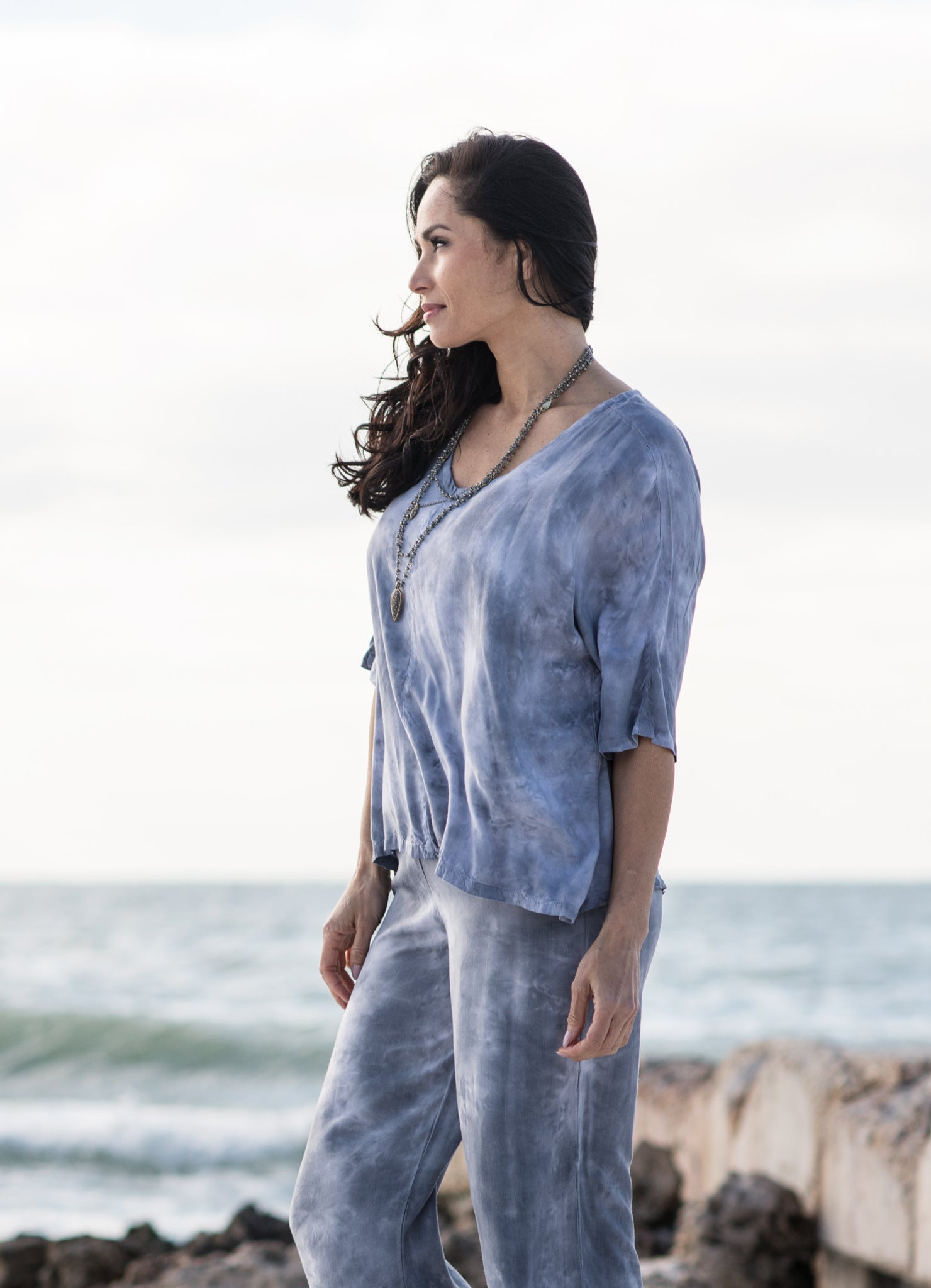 Easy Rayon Shirt in Mist - Top - Dyetology