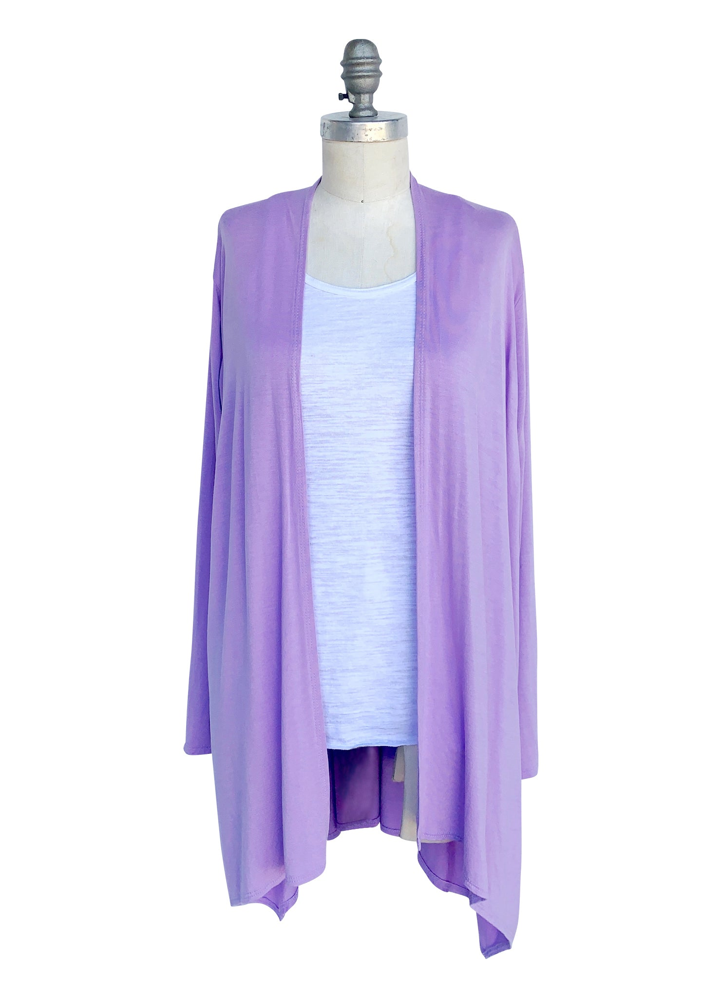 Drape Front Jacket in Solid Lavender - Top - Dyetology