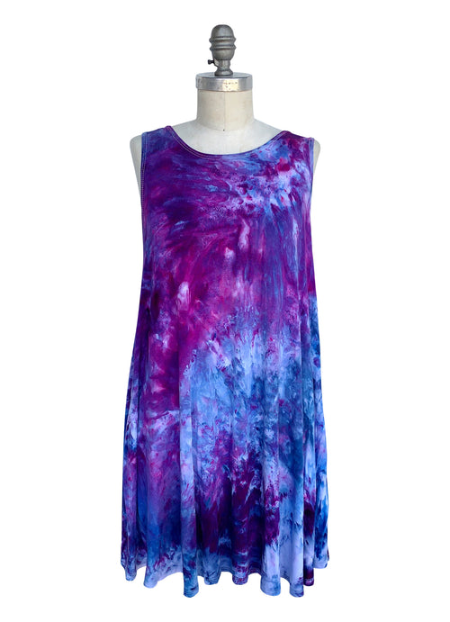 A-Line Tunic Tank in Perfect Purple - Top - Dyetology