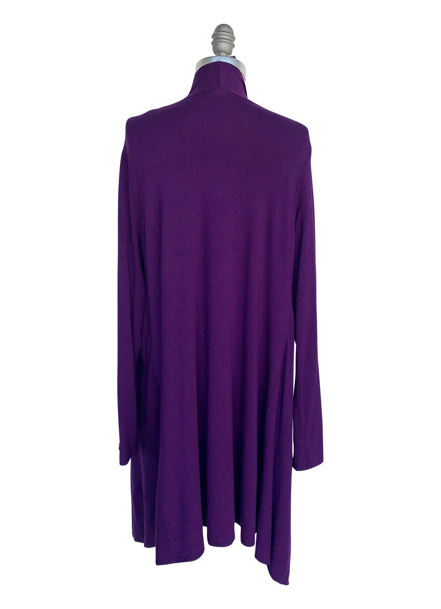 Criss Cross Blouse and Drape Front Jacket Bundle in Purples - Top - Dyetology