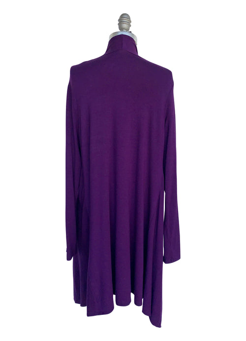 Drape Front Jacket in Deep Purple - Top - Dyetology
